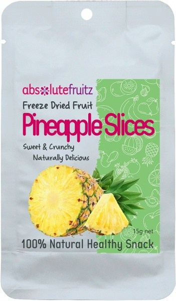 Absolute Fruitz Freeze Dried Pineapple 15g