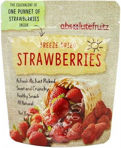 Absolute Fruitz Freeze Dried Strawberry - One Punnet 35g