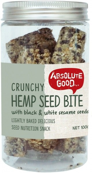Absolute Good Crunchy Hemp Seed Bar w/Black Sesame  100g