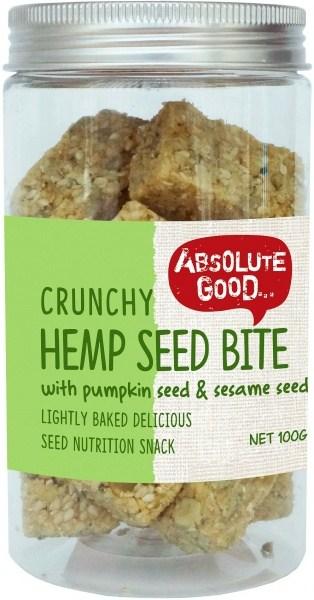 Absolute Good Crunchy Hemp Seed Bar w/Pumpkin Seeds  100g