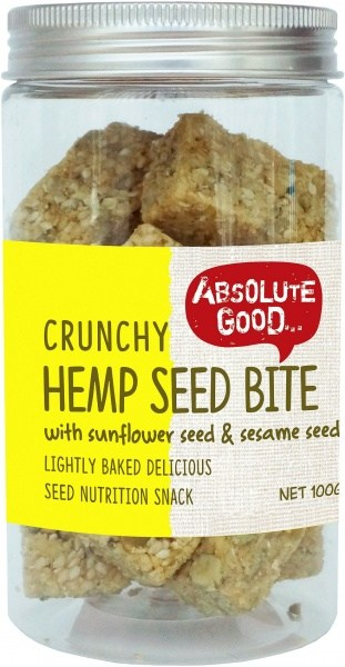 Absolute Good Crunchy Hemp Seed Bar w/Sunflower Seeds  100g