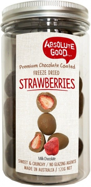 Absolute Good Milk Chocolate Coated Strawberry 120g
