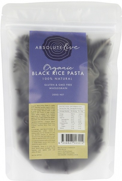 Absolute Live Organic Black Rice Pasta 200g