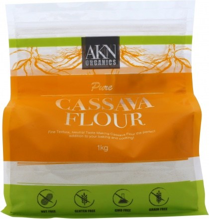 AKN Organics Pure Cassava Flour  1Kg