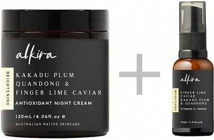 Alkira Antioxidant Night Cream 120g + FREE  Vitamin C + Facial Oil 30ml GWP