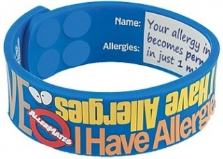 AllerMates ALERT I Have Allergies Writable Wristbands
