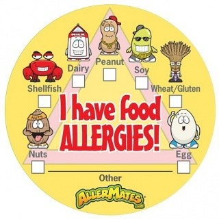 AllerMates I Have Food Allergies Stickers With Checkbox - 24 Pack