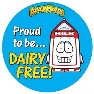 AllerMates Proud to be Dairy Free Stickers