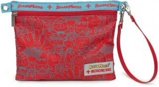 AllerMates Red Collage Medicine Bag