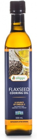 Alligga Hi Heat Flaxseed Cooking Oil 500ml