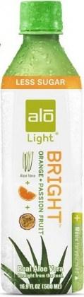 Alo Light Bright Aloe Vera Drink Orange & Passionfruit 500mlx12