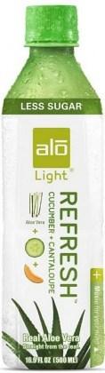 Alo Light Refresh Aloe Vera Drink Cucumber & Cantaloupe 500mlx12