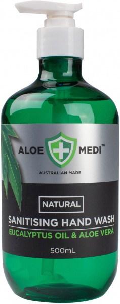 Aloe + Medi  Natural Sanitising Hand Wash Eucalyptus Oil & Aloe Vera 500ml
