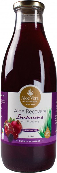 Aloe Vera Aloe Recovery Immune with Blueberry  Glass 1L