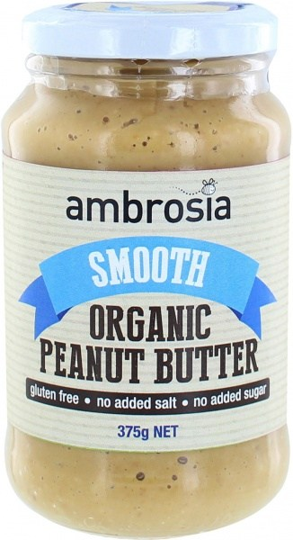 Ambrosia Organic Smooth Peanut Butter  375g