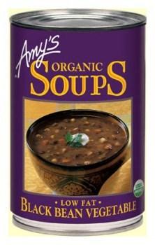 Amys Organic Can Black Bean Vege Soup 411g