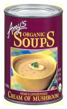 Amys Organic Can Cream Mushroom Soup 400gm