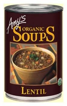 Amys Organic Canned Lentil  Soup 411gm