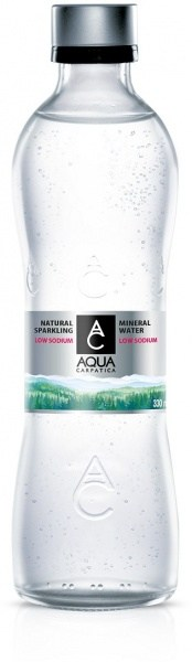 Aqua Carpatica Sparkling Natural Mineral Water Glass Bottle 12x330ml