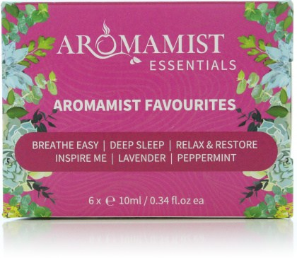 Aromamist Essentials Aromamist Favourites (Breathe,Sleep,Restore,Inspire,Lavdr,PMint)