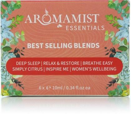 Aromamist Essentials Best Selling Blends (Sleep,Restore,Breathe,Citrus,Inspire,Wellbeing)
