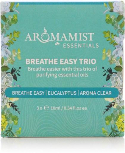 Aromamist Essentials Breathe Easy Trio (Breathe Easy, Eucalyptus, Aroma Clear)