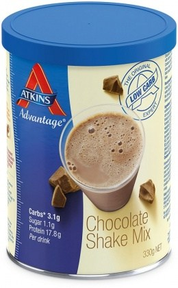 Atkins Shake Mix  - Chocolate 2x330g