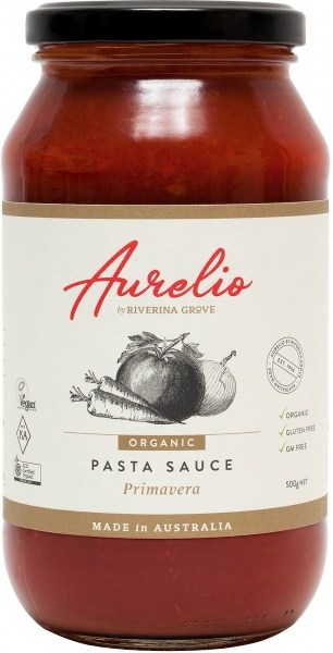 Aurelio Organic Primavera Pasta Sauce  500g