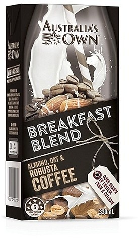 Australia's Own Breakfast Blend Almond, Oat & Robusta Coffee 12x330ml