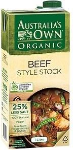 Australia's Own Organic Liquid Beef Stock  1Lt