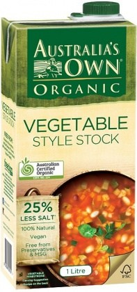 Australia's Own Organic Liquid Vegetable Stock 1Lt