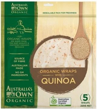 Australia's Own Organic Quinoa Wrap 225g