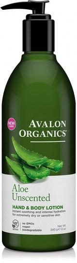 Avalon Organics Aloe Unscented Hand & Body Lotion 350ml
