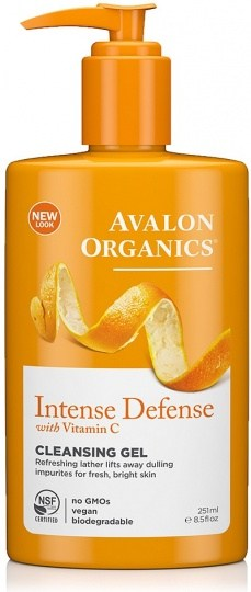 Avalon Organics Intense Defense with Vitamin C Cleansing Gel 250ml