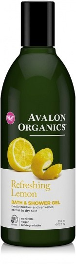 Avalon Organics Refreshing Lemon Bath & Shower Gel 350ml