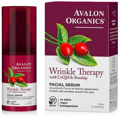 Avalon Organics Wrinkle Therapy with CoQ10 & Rosehip Facial Serum 16ml