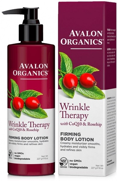Avalon Organics Wrinkle Therapy with CoQ10 & Rosehip Firming Body Lotion 227g MAY20