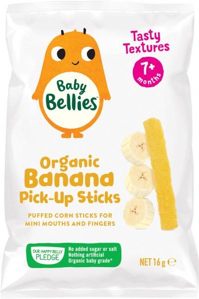 Baby Bellies Organic Banana Pick-Up Sticks 16g