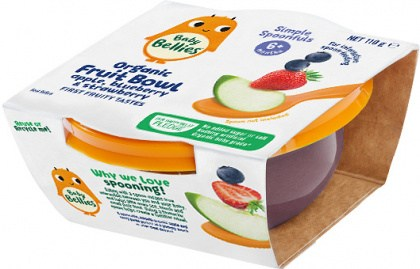 Baby Bellies Organic Bowl Apple Blueberry & Strawberry 110g