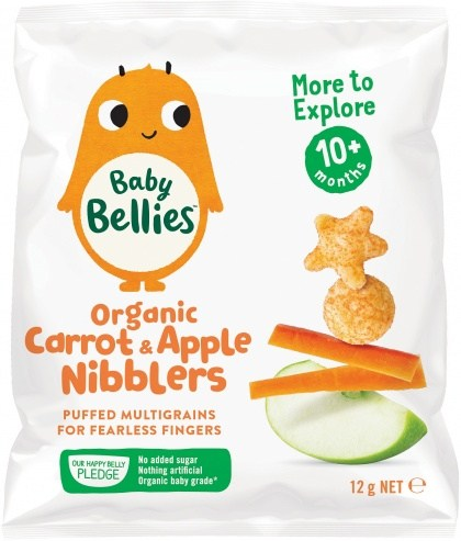 Baby Bellies Organic Carrot & Apple Nibblers (10+ months) 12g