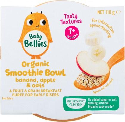Baby Bellies Organic Smoothie Bowl Banana, Apple & Oats 110g