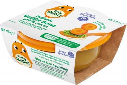 Baby Bellies Organic Veggie Bowl Pea & Carrot 110g
