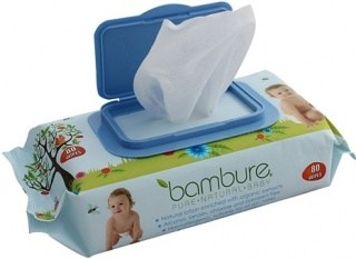 Bambure Natural Baby Wipes Pck80