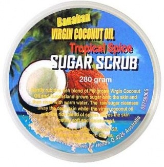 Banaban Extra Virgin Coconut Oil Tropical Spice Sugar Scrub 280g