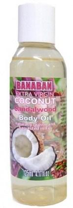 Banaban Extra Virgin Coconut Sandalwood Body Oil 125ml