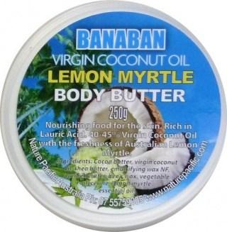 Banaban Extra Virgin Lemon Myrtle Body Butter 250g
