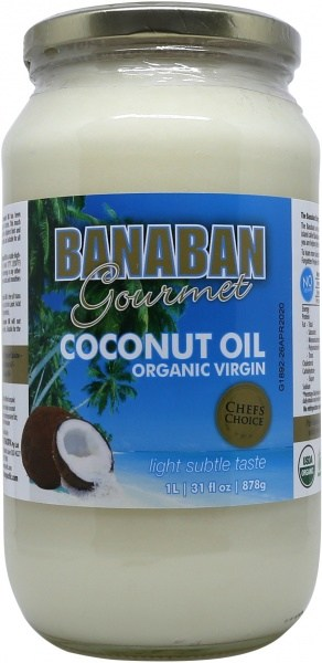Banaban Organic Extra Virgin Coconut Oil 1L (Glass)