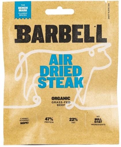 Barbell Benchmark Classic Spice Air Dried Steak Biltong Organic 70g