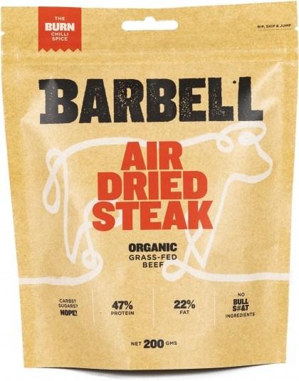 Barbell Burn Chilli Spice Air Dried Steak Biltong Organic 200g