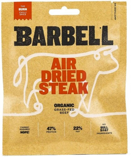 Barbell Burn Chilli Spice Air Dried Steak Biltong Organic 70g